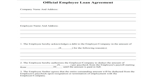 Loan Application from Company wherever you are working