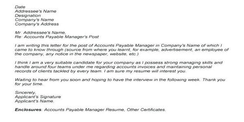 Cover Letter for Accounting Specialist