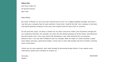 Cover Letter For 3d Artist Qs Study