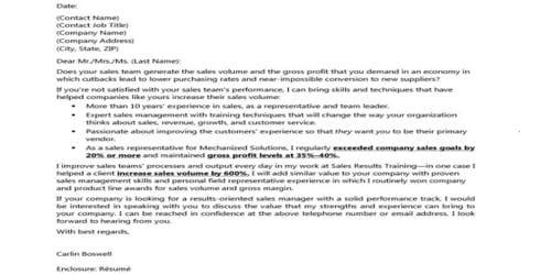 Cover Letter for Account Supervisor