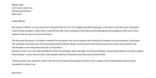 Cover Letter for Accountant Assistant