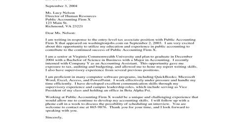 Cover Letter for Accountant Supervisor