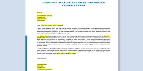 Cover Letter for Administrative Services Manager