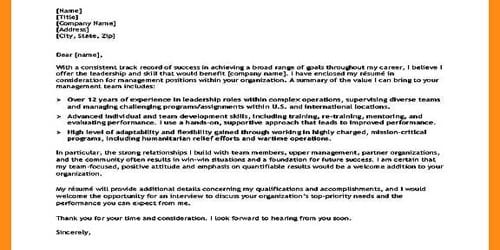 Cover Letter for Air Force Pilot