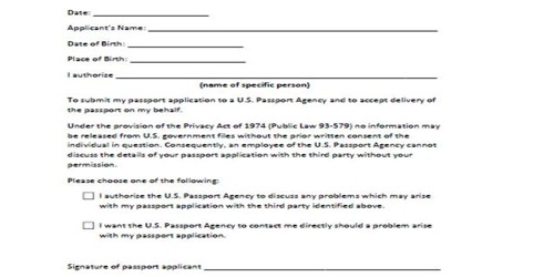 Renewal Letter for a Passport
