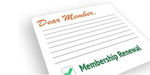 Renewal Letter for Membership Subscription