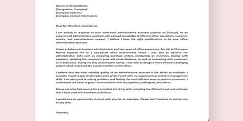 Cover Letter for Admissions Advisor