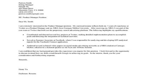 Cover Letter for Air Force Officer