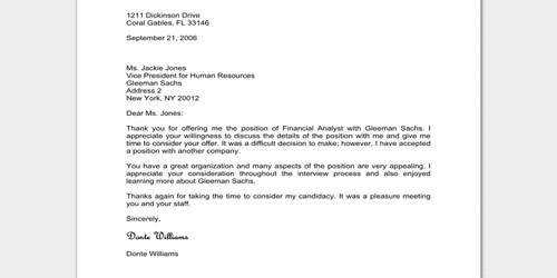 Official Regret Letter