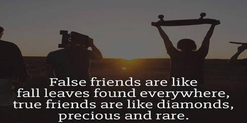 A True Friend and a False Friend
