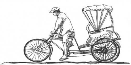 A Rickshaw Puller