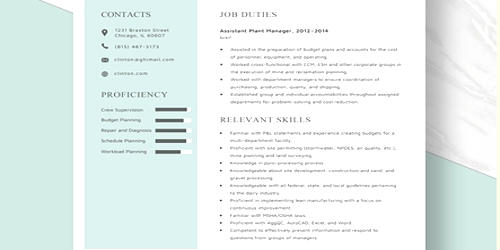 Cover Letter for Assistant Plant Manager