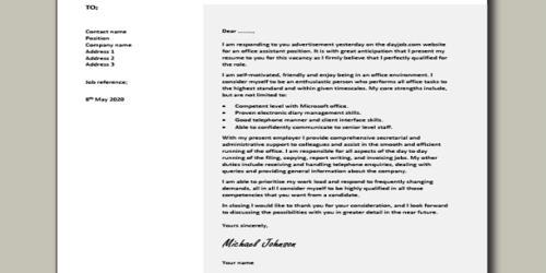 Cover Letter for Assistant Corporate Secretary