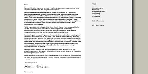 Cover Letter for Assistant Department Manager