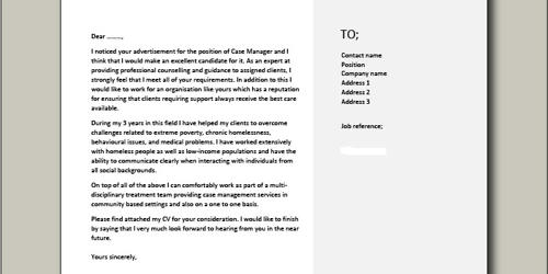 Cover Letter for Assisted Living Manager