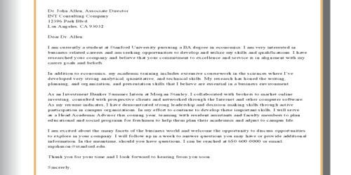 Cover Letter for Associate Director