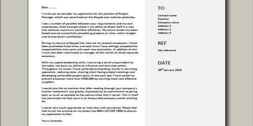 Cover Letter for Associate Manager