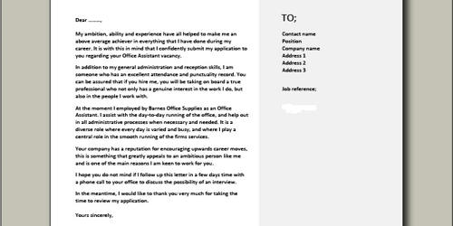 Cover Letter for Attendance Clerk