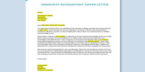Cover Letter for Accounting Associate