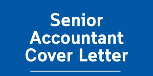 Cover Letter for Senior Accountant