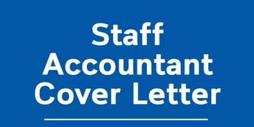 Cover Letter for Staff Accountant