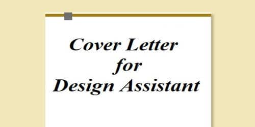 Cover Letter for Design Assistant