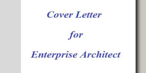 Cover Letter for Enterprise Architect