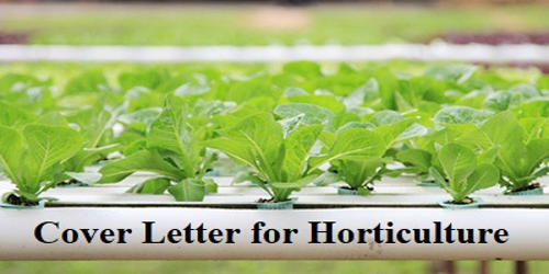 Cover Letter for Horticulture