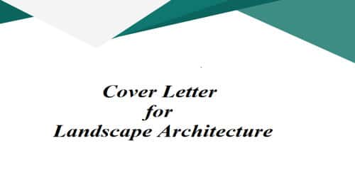 Cover Letter for Landscape Architecture