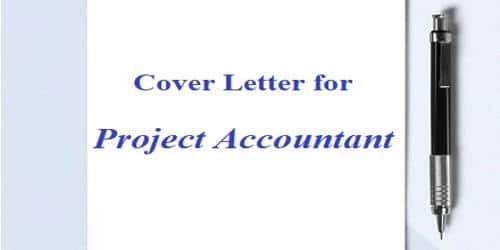 Cover Letter for Project Accountant