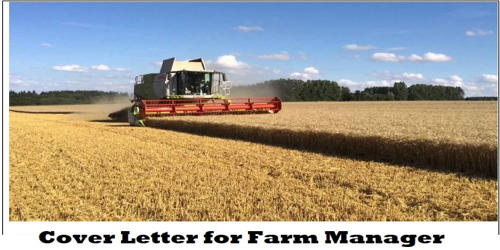 Cover Letter for Farm Manager