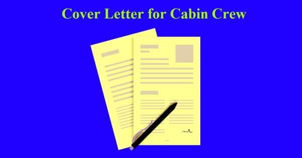 Cover Letter for Cabin Crew