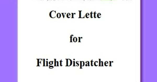 Cover Letter for Flight Dispatcher