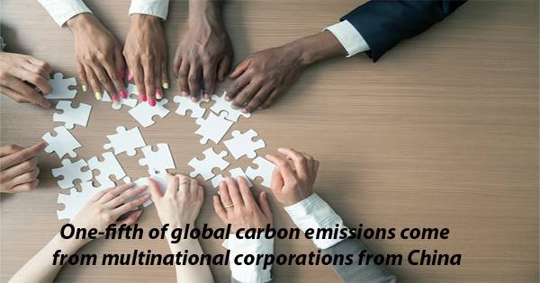 One-fifth of global carbon emissions come from multinational corporations from China