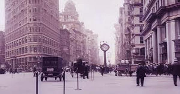 The colorful footage of New York in 1911