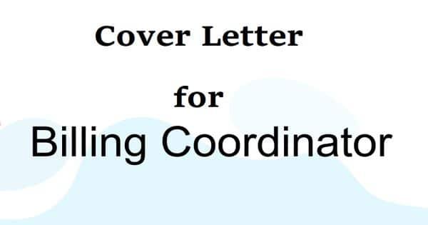 Cover Letter for Billing Coordinator