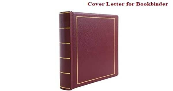Cover Letter for Bookbinder
