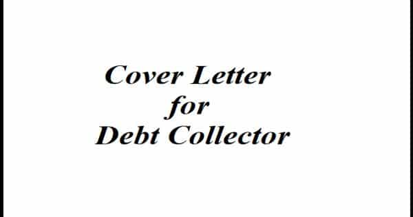 Cover Letter for Debt Collector