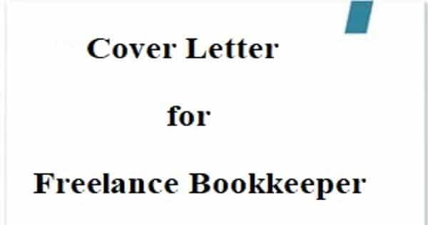 Cover Letter for Freelance Bookkeeper