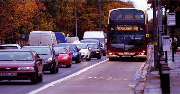People create traffic jams by wheeling around