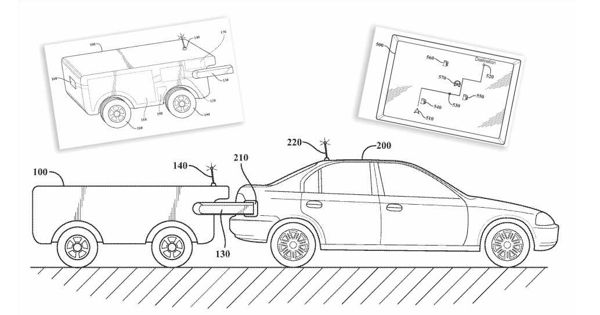 Toyota Patent Self-Driving Drone Recharging Tank for Recharging and Refueling