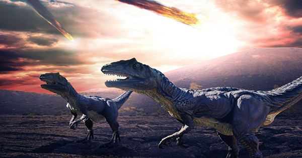 Carbon dioxide is released similar to modern human activity due to the extinction of other human dinosaurs