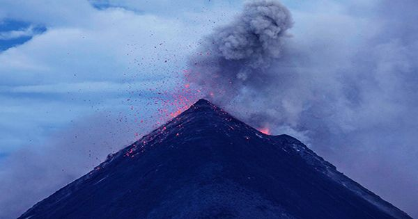 """Watch As Lava Bombs Blast Out Of World's """"Most Infamous"""" Volcano"""
