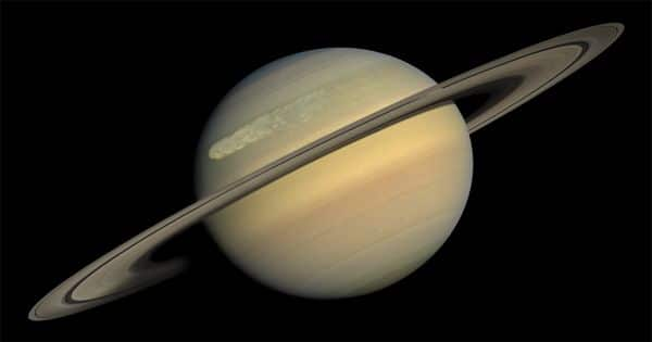 The tilt of the Saturn caused from its Moons