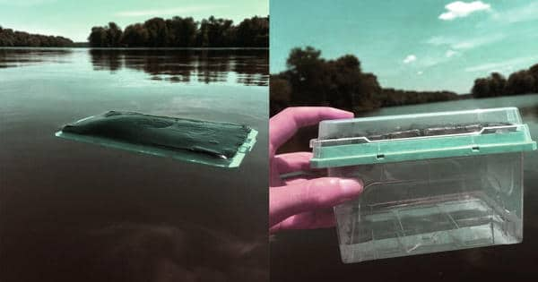A new water filter device purifies water powered only by sunlight