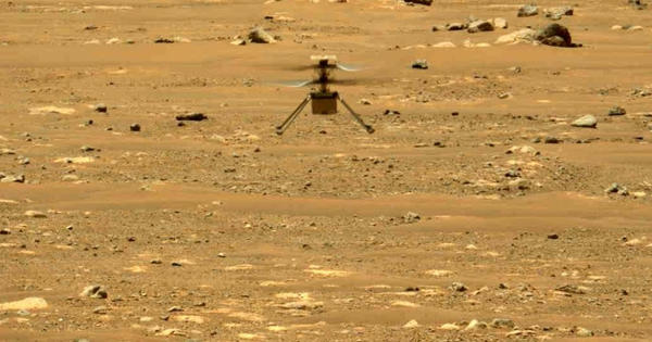 NASAs-experimental-helicopter-Ingenuity-flew-on-dusty-red-surface-of-Mars-1