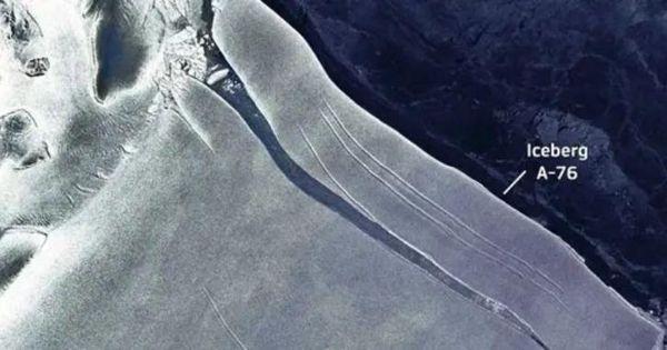 A Gigantic Iceberg has Broken Off from the Antarctic