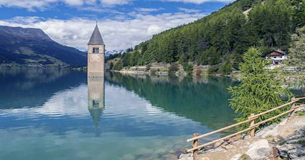 Iconic Italian Lost Village Rises Once Again From the Bottom of a Lake