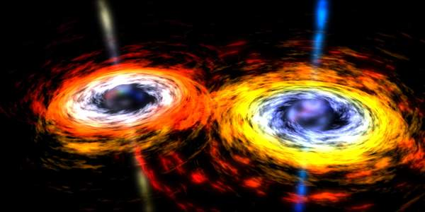 A-Pair-of-Orbiting-Black-Holes-Millions-of-Times-the-Suns-Mass-–-NASAs-Visualization-1