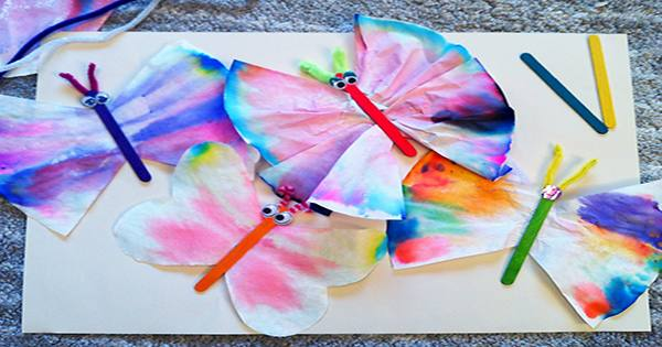 Charity for Adults with Intellectual Disabilities Creates Butterfly Decorations using Chromatography